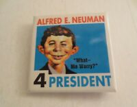 Vintage Mad Magazine Alfred E. Neuman For President Pin Button