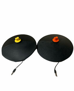 Wii/360 Band Hero Drum Cymbals Yellow & Orange Replacement Parts. Wired W/Elbows