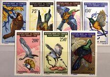 KONGO BRAZZAVILLE 1967 116-22 U C45-51 Vögel Birds Fauna Sperling MNH