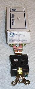 GE 5261-1 BROWN RECEPTACLE NEMA5-15R 15A 125V 2 POL 3 WIRE  (NOS)