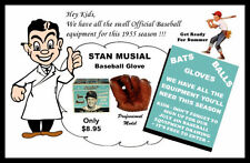 1955 Stan Musial Baseball Glove Store Poster Cardinals - Buy Any 2 Get 1 FREE