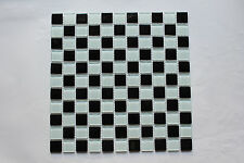 Crystal Glass Mosaic Tiles - Black & White - Kitchen Splash back/Feature wall