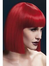 Femmes fièvre court blunt coupé rouge modèle professionnel perruque déguisements hen fun