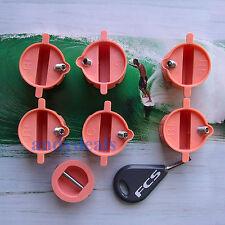 FCS compatible peach surfboard fin plugs screws key leash cup