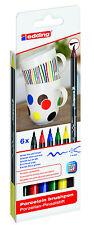 edding 4200 Porzellan Pinselstift, Porcelain, 3 verschiedene Etuis zur Auswahl