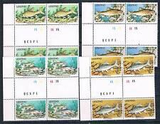 Lesotho 1977 Fish PLATE/GUTTER BLOCKS SG 338/41 MNH