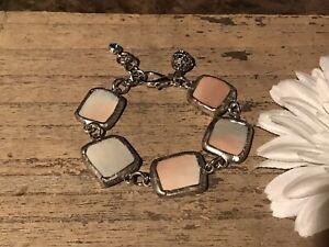 Recycled Broken Porcelain Jewelry, Multi Color Bracelet, Adjustable