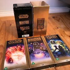 Star Wars Trilogy Box Set On VHS Video EXCELLENT VIDEO QUALITY! - GN