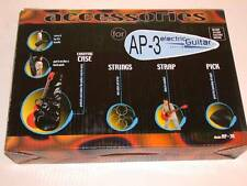 AP-3 Electric Guitar Gig Bag, Strings, & Strap Accessory Kit for 3/4 Size or 36""