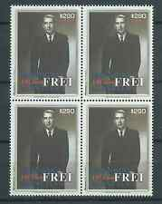CHILE 2011 President Frei 100 years MNH block of 4