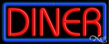 Brand New Diner 32x13 Border Real Neon Sign Withcustom Options 10537