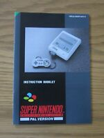 INSTRUCTION BOOKLET FOR THE SUPER NINTENDO / SNES - NEW / MINT CONDITION