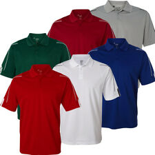 Adidas Golf Climalite 3-Stripes Cuff Polo Shirt, Brand New