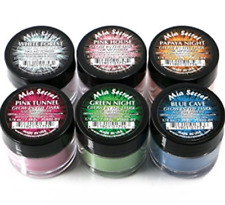 Mia Secret Nail Art Acrylic Professional Powder 6 Colors Set - GLOW IN THE DARK