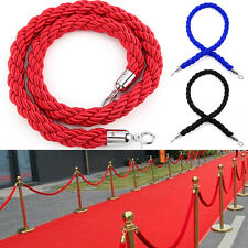 More details for 3 colour twisted rope crowd control post queue line barrier for exhibition stand