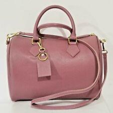 "Italian lilac calf leather ""bowling"" handbag & shoulder bag by Vittoria Pacini"