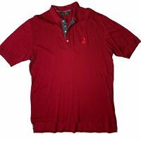 Vintage Bobby Jones Red Pinehurst Golf Shirt Polo XL Short Sleeve Logo Cotton