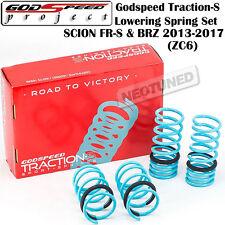 GODSPEED TRACTION-S LOWERING SPRINGS set kit FOR FR-S 13-17 BRZ 13-17 ZC6