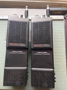 One Pair of Realistic TRC-208 Handheld CB Walkie Talkies - Untested