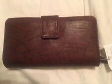 Women's Croft & Barrow Rich Brown Leather Bifold Clutch Wallet Purse