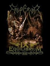 EMPEROR cd cvr IX EQUILIBRIUM Official Black SHIRT LRG new