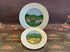 BLOCK SPAL Napa Valley 1983 Spring Salad Summer Bread Plate Set of 2 Portugal