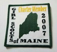 Girl Scout 2007 Maine Charter Member Fun Patch ~Lot 2020615