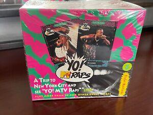 1991 Pro Set Vintage Yo! MTV Raps MusiCards Trading Cards 36 Packs Sealed Box