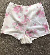 Vintage St. Michael Floral Nylon Lacy Tap Panties Shorts French Knickers - Large