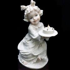 "Armani Figurine Child Sweet Wish 6.5"" tall Italy Porcelain New In Box #1200F"