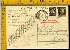 Regno cartolina intero postale imperiale posta aerea  Zara Arcevia Ancona U 480