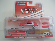 Starsky & Hutch  Ford Ranchero, Ford Grand Torino +Trailer  Greenlight  1:64
