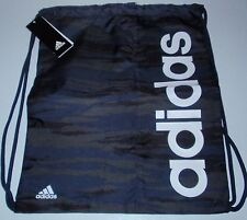 * Nouveau * Adidas Linear GymSack (Noir/Bleu Camouflage)