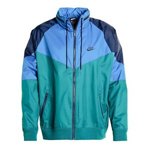 Nike Mens Sportswear NSW Windrunner Jacket Blue Teal Navy AR2209-381 Size 2XL