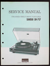 Sansui sr-717 original 2-Speed belt-Drive turntable Service-Manual/diagram o153