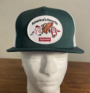 SUPREME AMERICA'S FAVORITE MESH BACK 5-PANEL HAT/ DARK GREEN OS SS21 WEEK 1 NEW