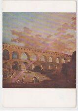 CP ART TABLEAU HUBERT ROBERT Le pont du Gard