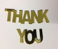 25 Gold Or Silver THANK YOU Words Card Making Scrapbook Craft Embellishments