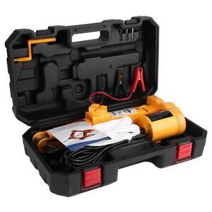 2 Ton 12V Automotive Electric Scissor Car Jacks Lifting Impact Wrench Kit US