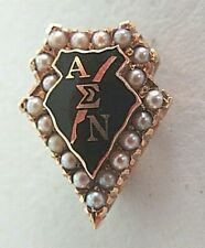 USA FRATERNITY PIN ALPHA SIGMA NU. MADE IN GOLD. NAMED. 1096