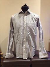 "John Lewis Multi Striped Long Sleeved Casual Shirt  15.5""  Cuff links (P0218)"