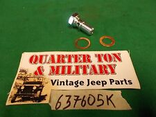 Jeep Willys MB GPW M38 CJ2A 3A Brake Master cyl bolt+washers