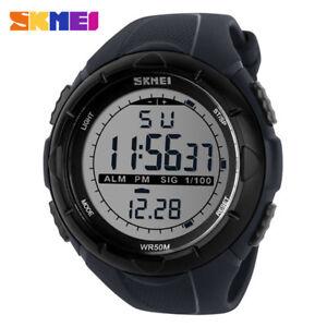 SKMEI Brand Men Sport Watch Big Face Fashion Boys Outdoor LED Digital Wristwatch