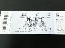 Rascal Flatts Changed Tour Concert Ticket Unused 2012