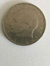Two German 2 Mark Coins, 1969, 1977D EX-EX+ Condition, Free US Postage