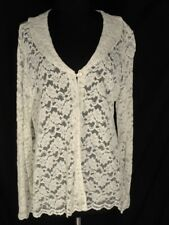 April Cornell for Cornell Trading Ivory  Lace Jacket 2 Button L