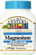 Magnesium 250 mg Tablets, 110 Count by 21st Century  Free Shipping