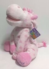 NEW Singing Pink Plush Giraffe Nighty Night Press and Play Zoo Tunes Petting Zoo