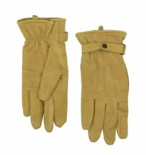 Barbour Men's Leather Thinsulate Gloves in Tan Size L
