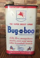 ANTIQUE BUG-A-BOO THE SUPER INSECT SPRAY SOCONY VACUUM OIL CO INC NY USA PEGASUS